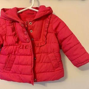 5/$30 Baby Gap / Pink / Puffer Coat / Winter